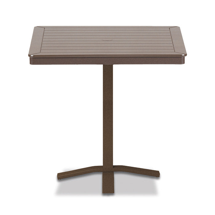 "Telescope Casual MGP 36"" Square Bar Height Table with Pedestal Base - 40.5""H"