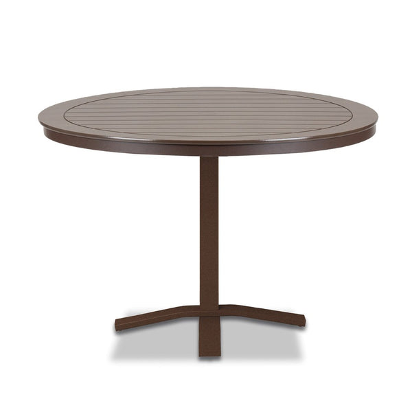 "Telescope Casual Marine Grade Polymer 42"" Round Dining Table with Pedestal Base"