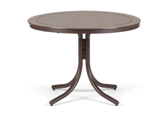 Telescope Casual Marine Grade Polymer 42'' Round Dining Table w/Umbrella Hole | T120DINING