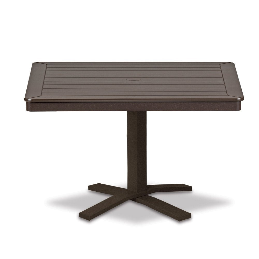 "Telescope Casual Marine Grade Polymer 32"" Square Chat Table with Pedestal Base"
