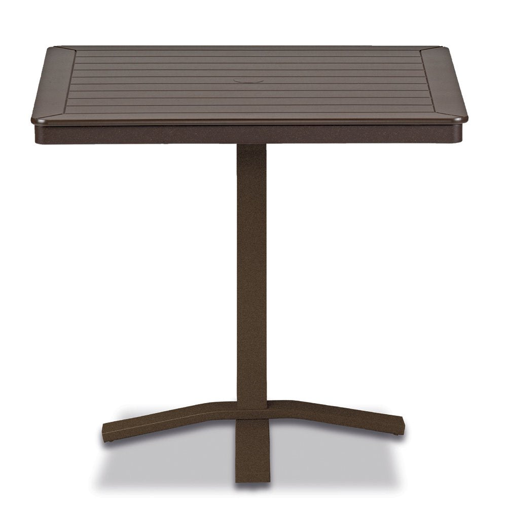 "Telescope Casual Marine Grade Polymer 32"" Square Balcony Height Table with Pedestal Base"
