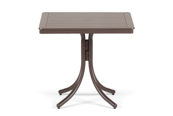 Telescope Casual Marine Grade Polymer 32'' Square Dining Table w/Umbrella Hole | T150DINING