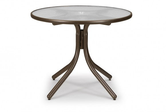 Telescope Casual Obscure Acrylic 36'' Round Dining Height Table w/Umbrella Hole | T960ACR-DINING