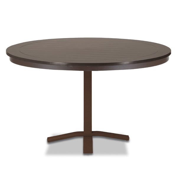 "Telescope Casual Marine Grade Polymer 48"" Round Dining Table with Pedestal Base"