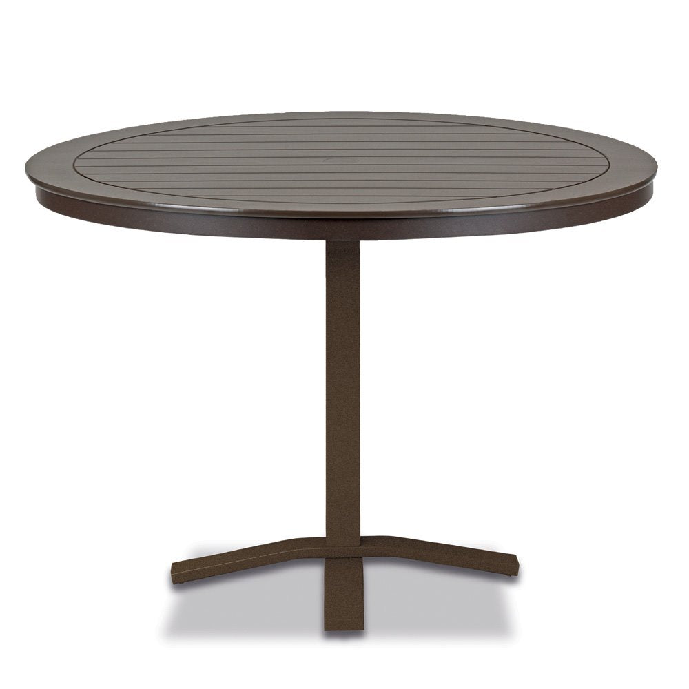 "Telescope Casual Marine Grade Polymer 48"" Round Balcony Height Table with Pedestal Base"