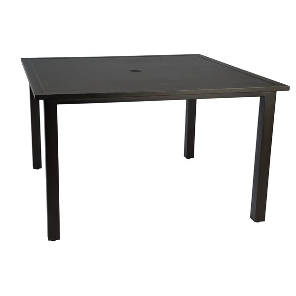 Elemental Square Umbrella Dining Table