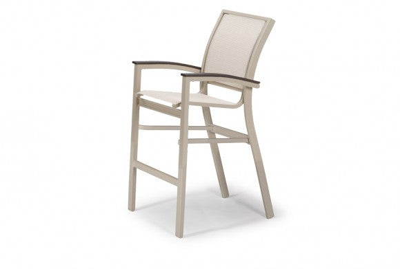 Telescope Casual Bazza MGP Aluminum Sling Balcony Height Stacking Cafe Chair | Z580