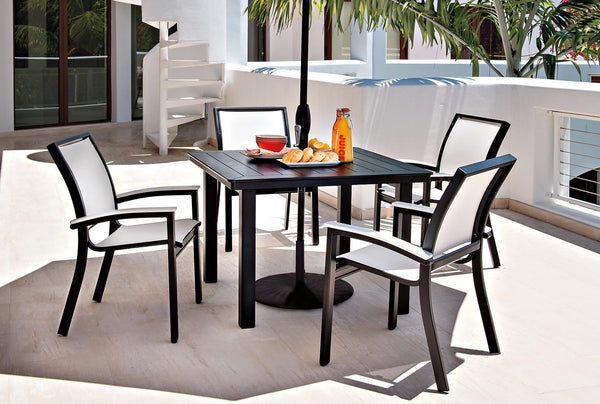 Casual Bazza White Sling Dining Set