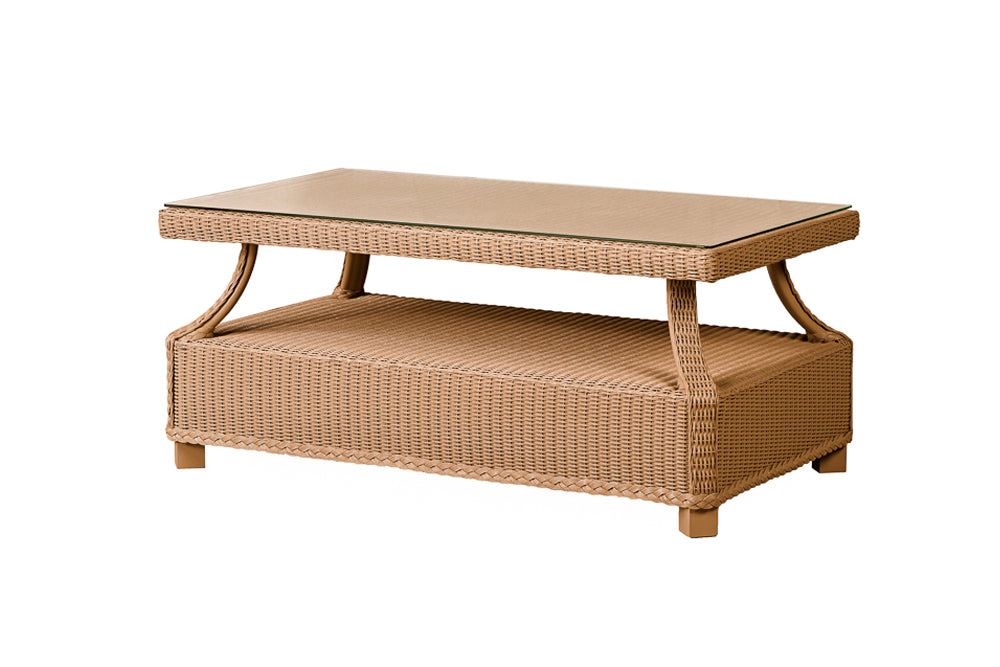 "Lloyd Flanders Hamptons 42"" Rectangular Cocktail Table- Item 15952"