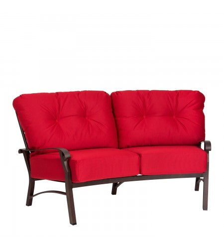 Cortland Cushion Crescent Loveseat- Item 4Z0463