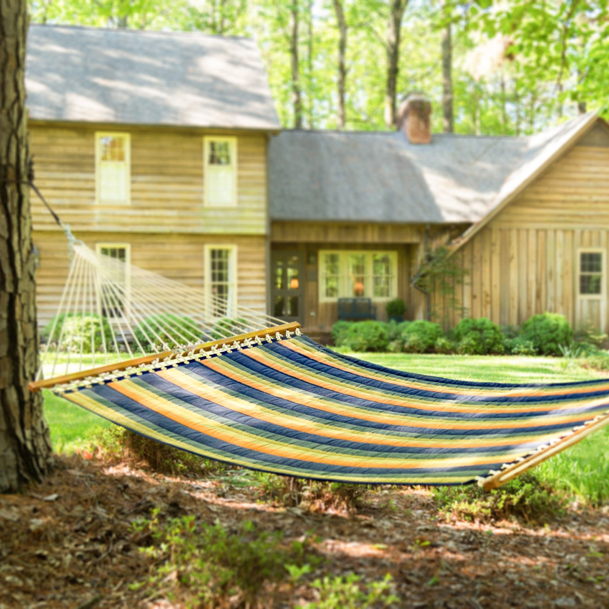Large Quilted Fabric Hammock - Gateway Aspen