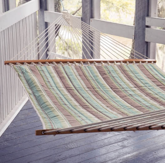 Pawleys Island Miramar Moss Large Quilted Fabric Hammock