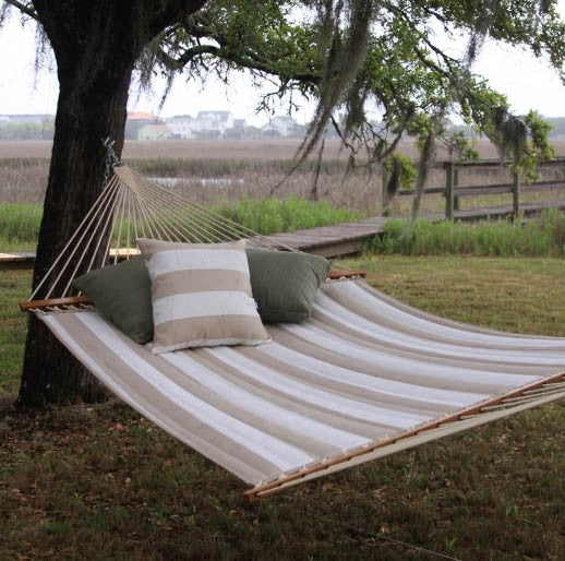 Pawleys Island Decade Sand Large Quilted Fabric Hammock