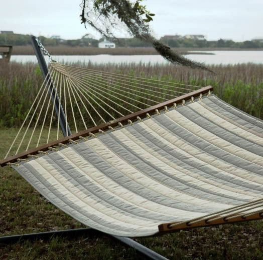 Pawleys Island Decade Pewter Large Quilted Fabric Hammock