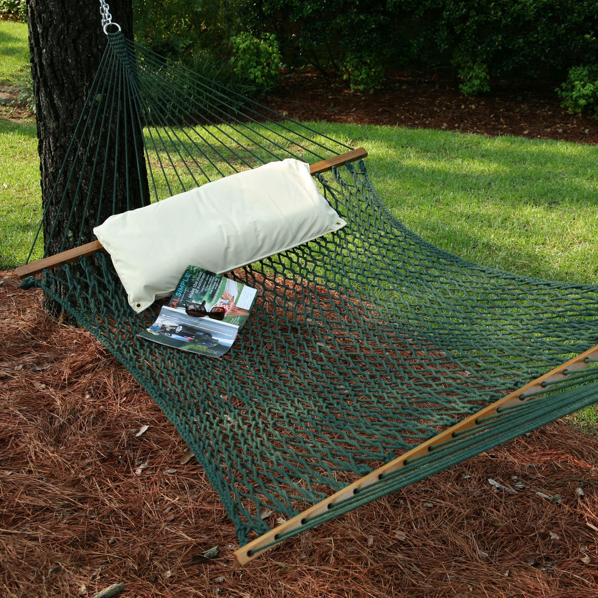 Large Original DuraCord Rope Hammock   Green