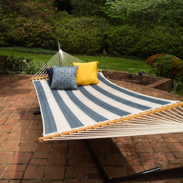 Large Quilted Fabric Hammock - Regency Indigo