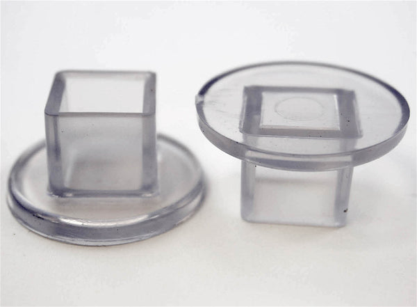 13 16 Quot Square Teardrop Chair Leg Protector Clear Item