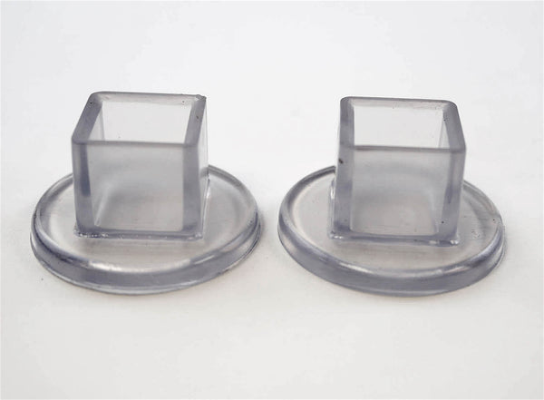 5 8 Quot Square 1 1 2 Quot Rd Flange Chair Leg Protector Clear