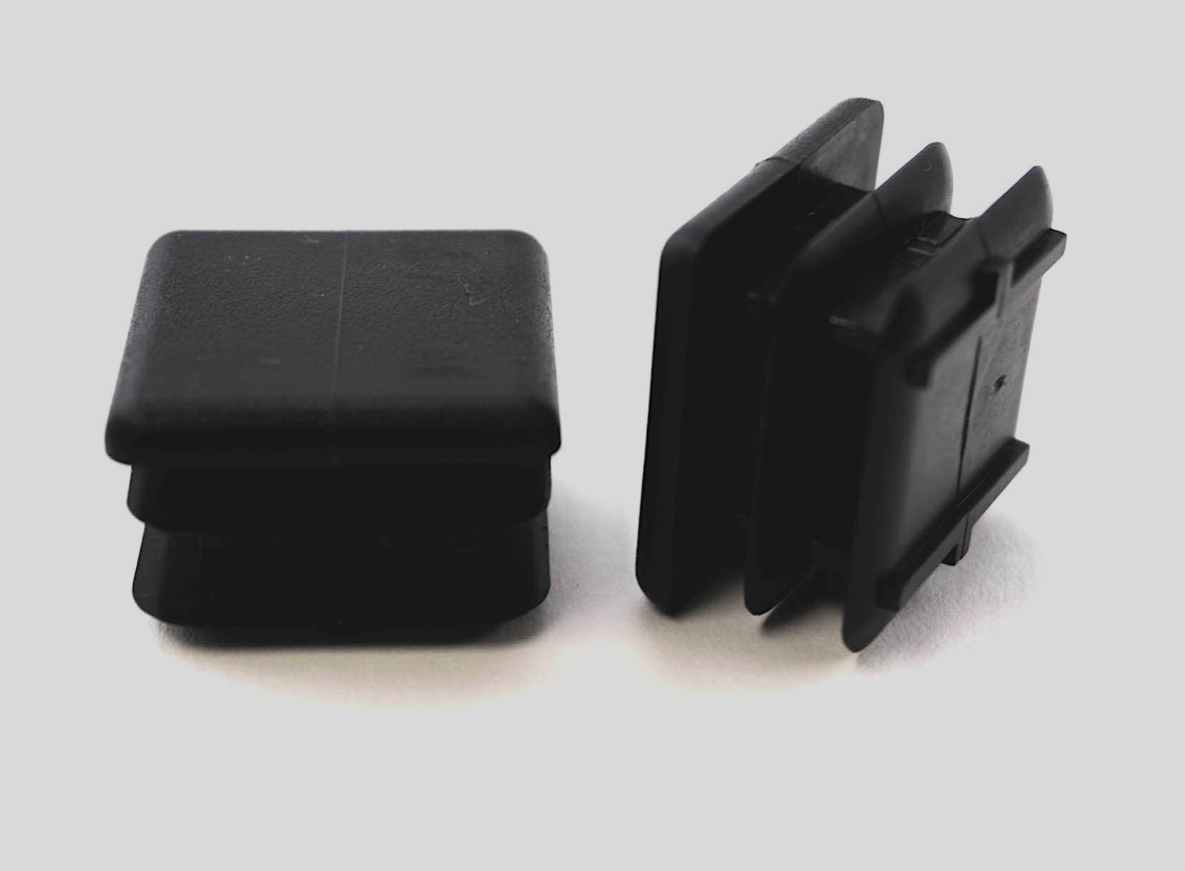 "1"" Square Multi Gauge Chair Leg Insert Black"