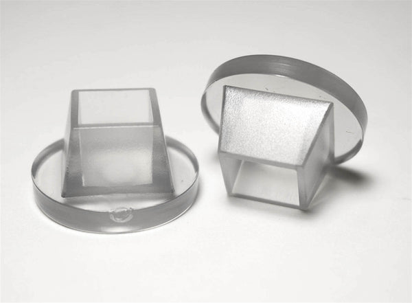 1 2 Quot Square 1 1 4 Quot Rd Flange Chair Leg Protector Clear