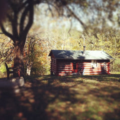 Hand built log cabin in Petersburg, KY on Woolper Creek and Ohio River.