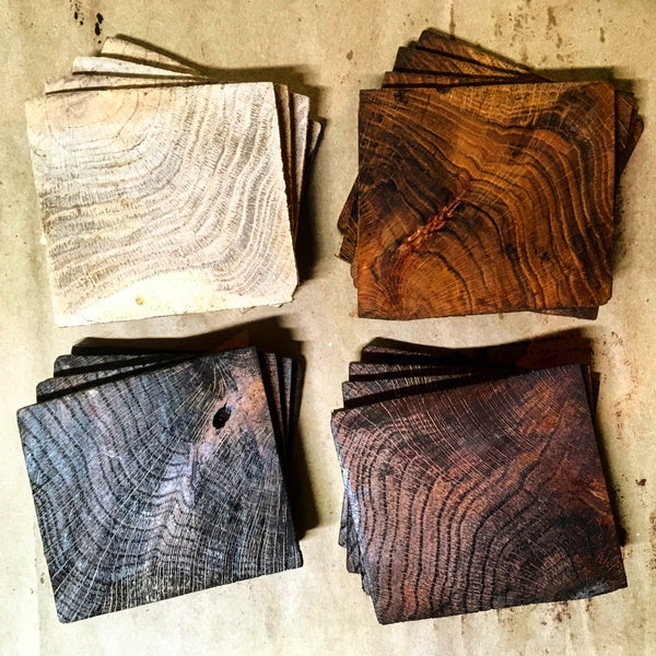 Reclaimed Wood Coaster Sets