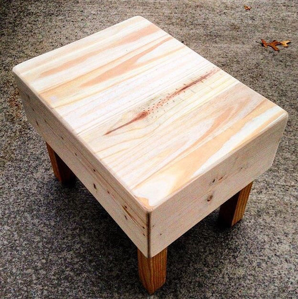 Small Reclaimed Wood Bench/Step Stool