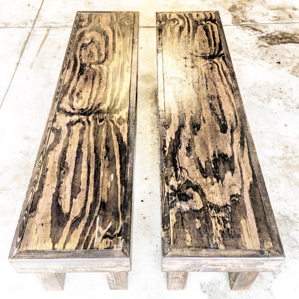 Long Reclaimed Wood Benches