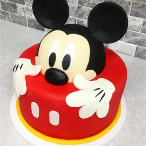 ***FREE DOWNLOAD*** Mickey Half Face Cake Template