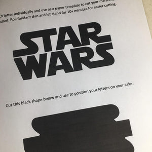 ***FREE Digital Download*** Star Wars Logo Template