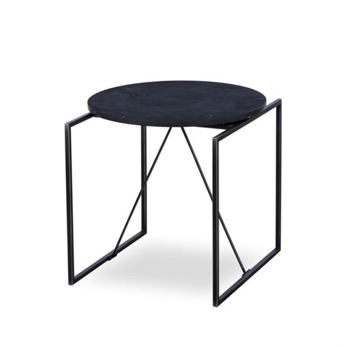 CATA SIDE TABLE - BLACK MARBLE for $775.00