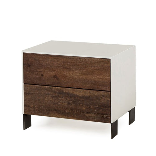 GIALLO NIGHTSTAND - 2 DRAWER / WHITE for $1195.00