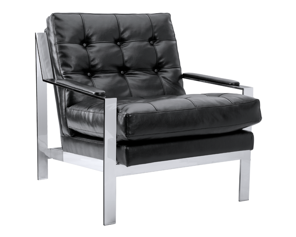 Exceptionnel COUNT NOBILITY BLACK LEATHER ARMCHAIR