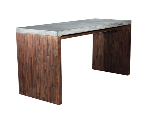 MADRAS ORGANIC LOOKING ACACIA WOOD BASE WITH CONCRETE TOP DESK for $2010.00