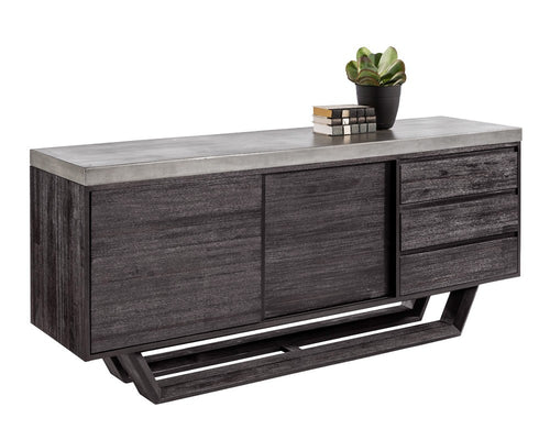 GLANCE GREY CONCRETE TOP WITH ACACIA WOOD BASE SIDEBOARD for $3420.00