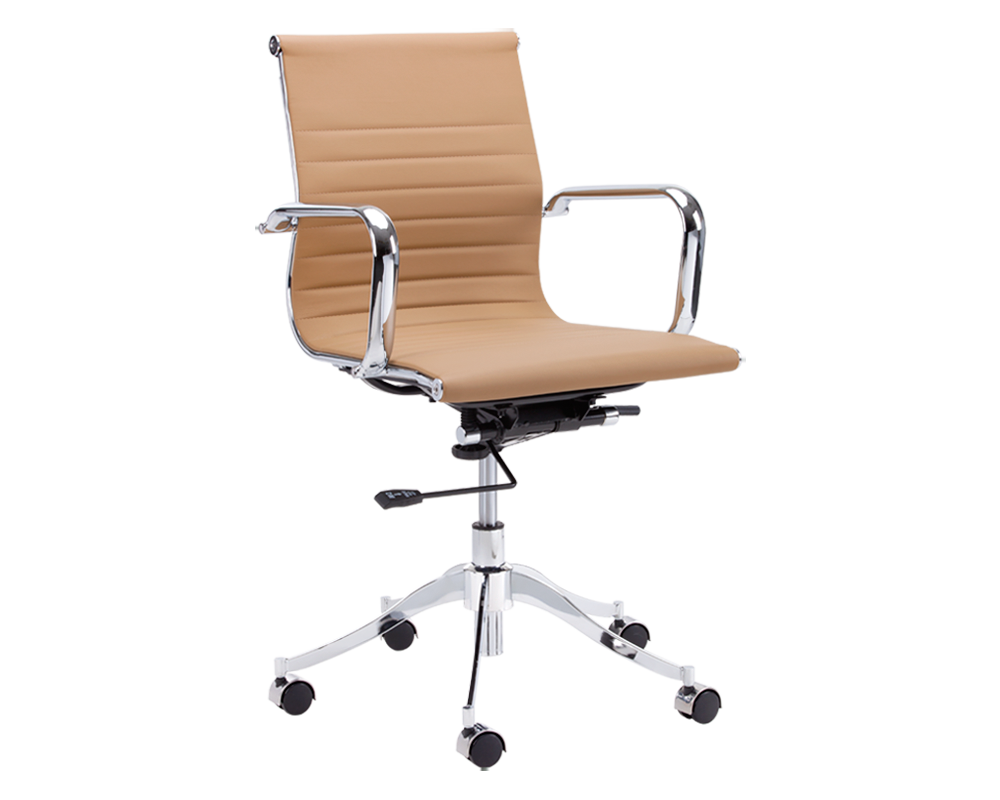 FRANCIS TAN FAUX LEATHER OFFICE CHAIR - BRIGHT MODERN FURNITURE