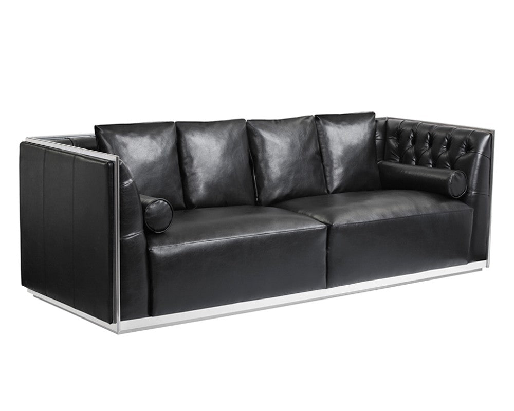 MAX NOBILITY BLACK LEATHER SOFA