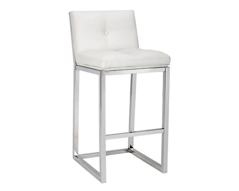 UMBERTO BAR STOOL - WHITE LEATHER for $625.00