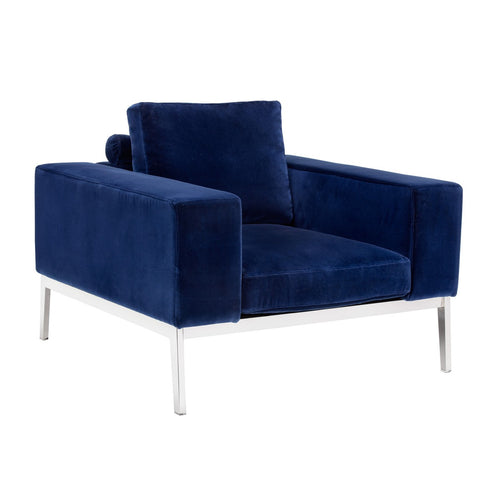 ADORE GIOTTO NAVY FABRIC ARMCHAIR for $2710.00