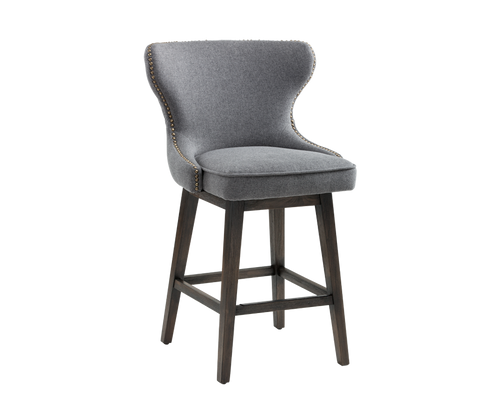 ANDREA DARK GREY SWIVEL COUNTER STOOL for $950.00