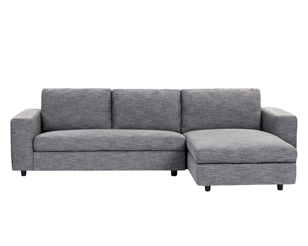 ENTHRALL QUARRY FABRIC SEATS WITH BLACK SOLID WOOD LEGS SOFA CHAISE RAF