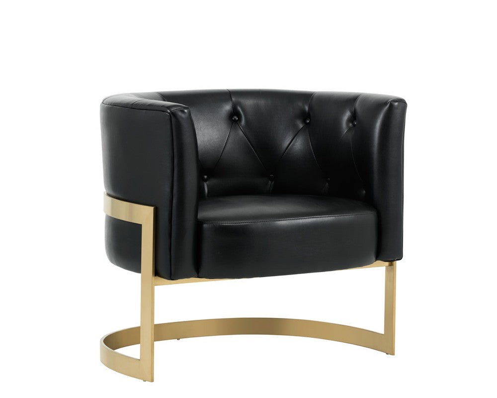 Brilliant Karnia Nobility Black Leather Accent Chair Bright Modern Furniture Ocoug Best Dining Table And Chair Ideas Images Ocougorg