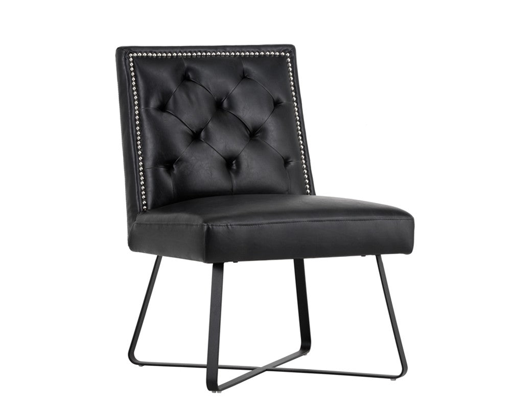 Miraculous Gregory Coal Black Leather Dining Chair Bright Modern Furniture Squirreltailoven Fun Painted Chair Ideas Images Squirreltailovenorg