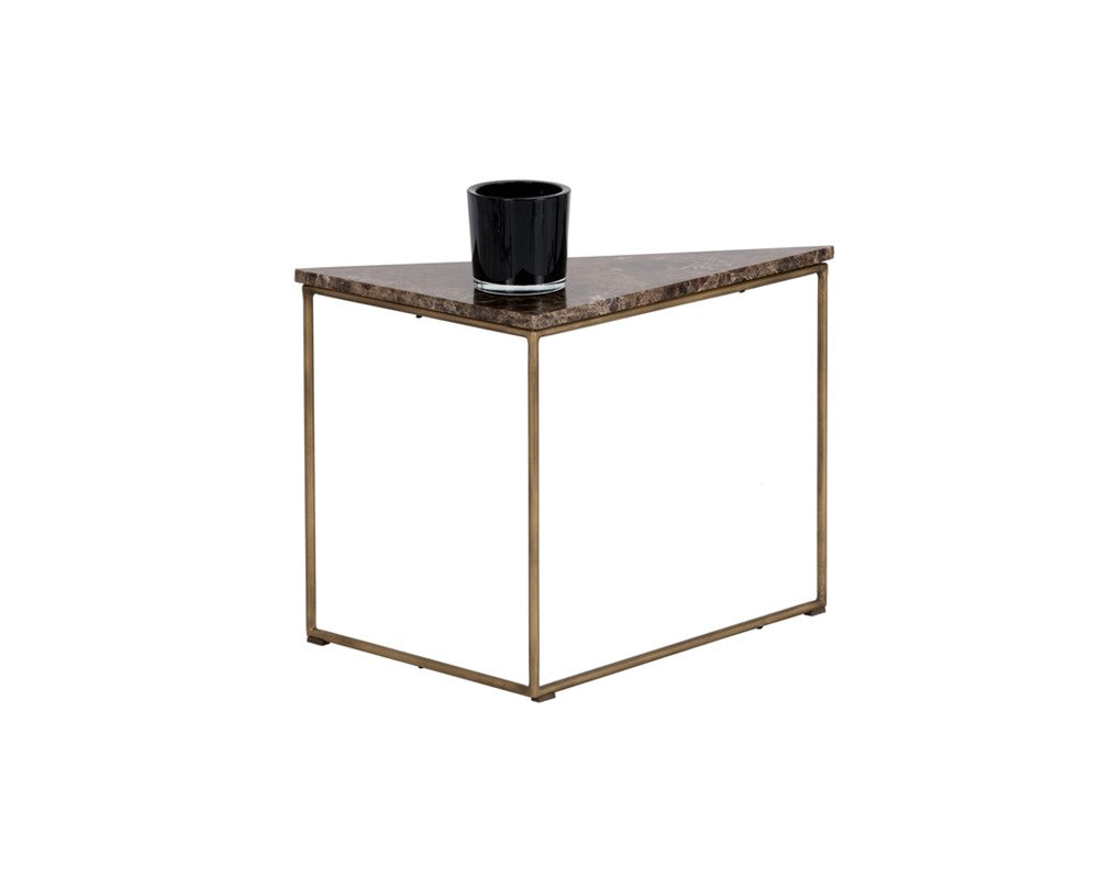 marble top end tables. TURBINE ANTIQUE BRASS STEEL FRAME WITH SOLID BROWN MARBLE TOP END TABLE Marble Top End Tables E