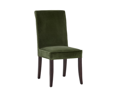 BARONESS GIOTTO OLIVE FABRIC ESPRESSO FINISH FRAME DINING CHAIR for $820.00