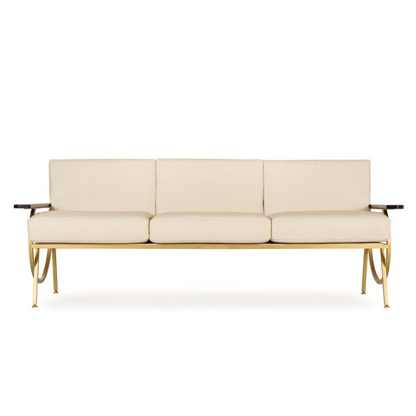 GQ SOFA - CREAM LEATHER for $5354.00