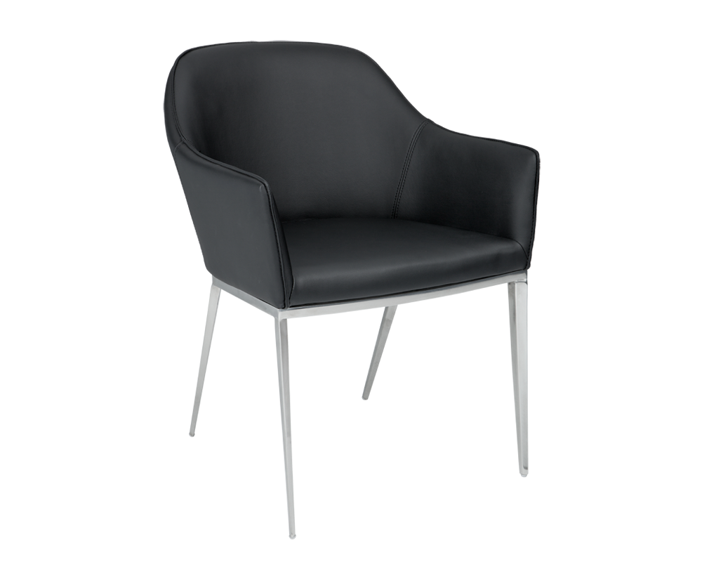 Sensational Star Black Leather Dining Chair Bright Modern Furniture Squirreltailoven Fun Painted Chair Ideas Images Squirreltailovenorg