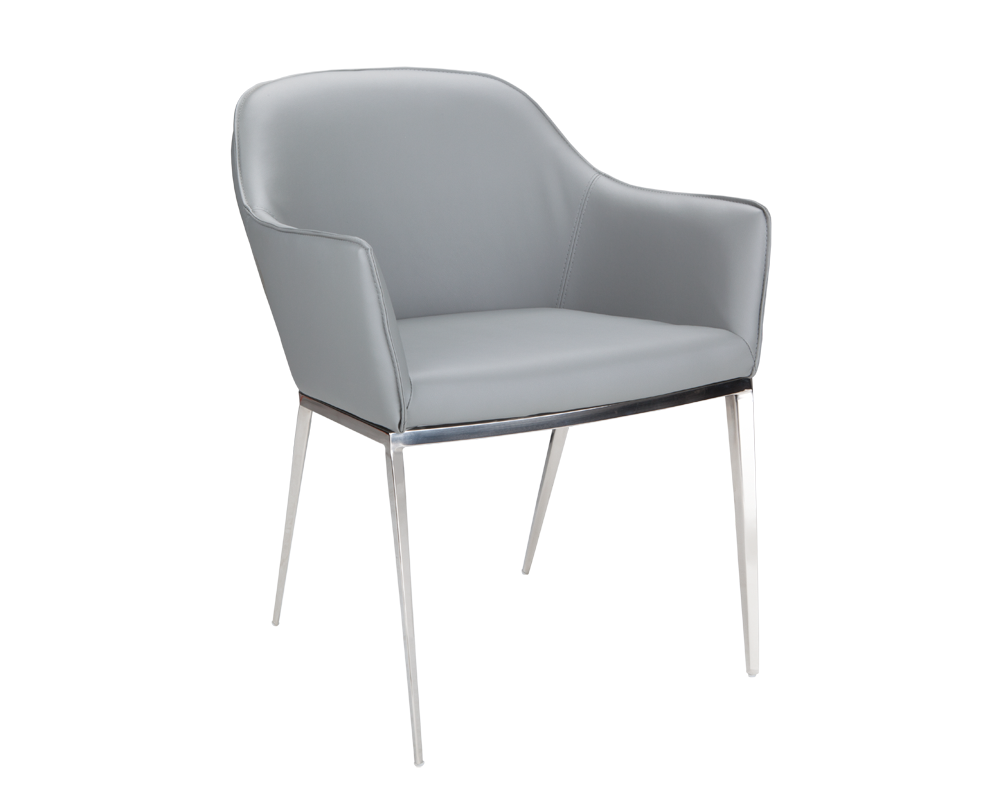 Awe Inspiring Star Grey Leather Dining Chair Bright Modern Furniture Bralicious Painted Fabric Chair Ideas Braliciousco