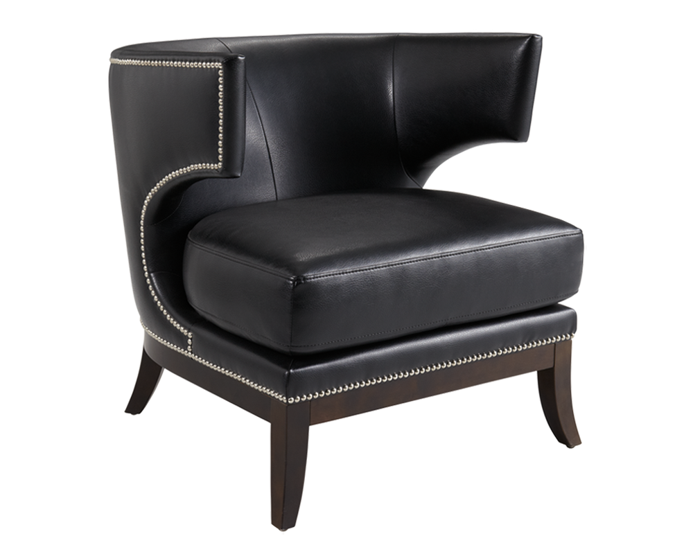 Pleasing Napa Black Leather Occasional Chair Bright Modern Furniture Ocoug Best Dining Table And Chair Ideas Images Ocougorg