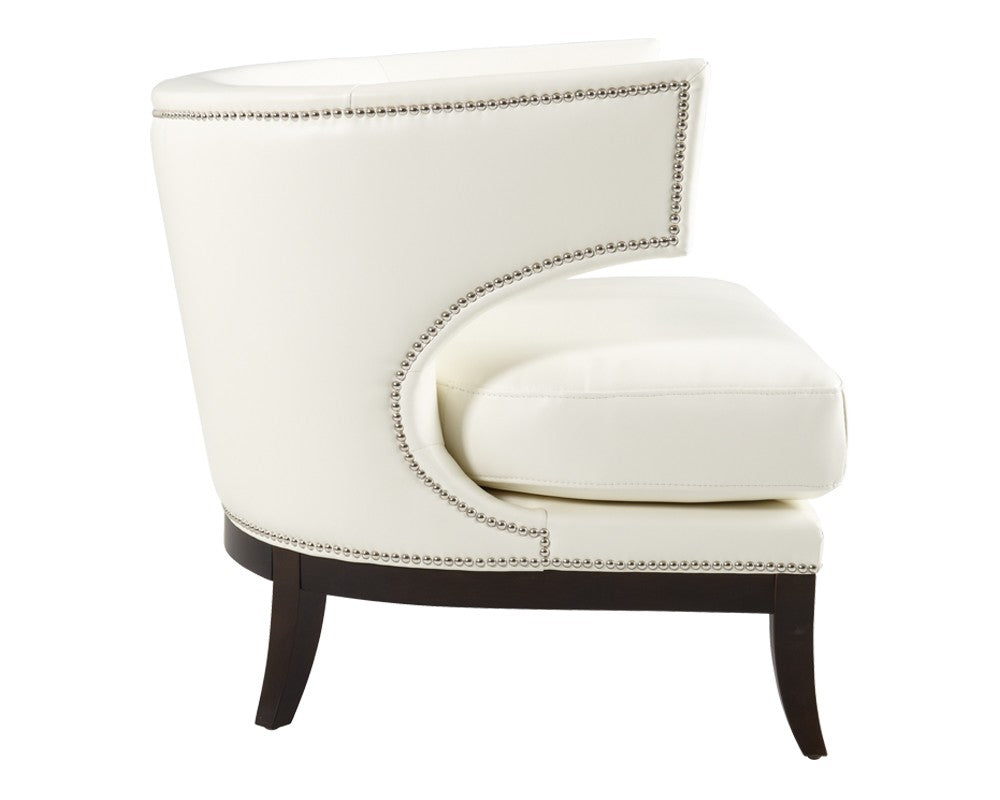 . NAPA IVORY LEATHER OCCASIONAL CHAIR
